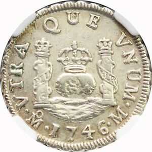 Mexico-1-Real-Pillar-Mo-1746-M-NGC-MS62-Philip-V-KM-75-2