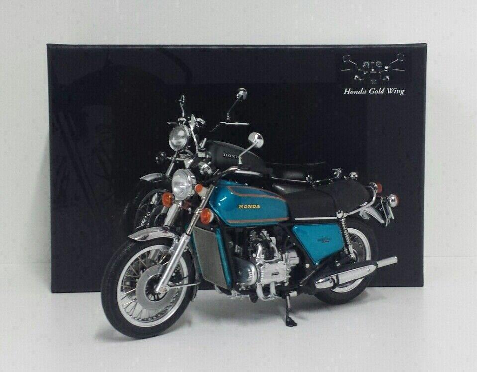 MINICHAMPS 1 12 MODELLO STATICO DIE CAST MOTO HONDA goldWING GL 1000 K3 1975 blue