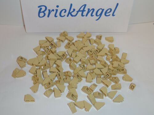 NEW LEGO Tan 2X1 45° Slope Bricks Wedge Roof Lot of 100 Pieces 3040