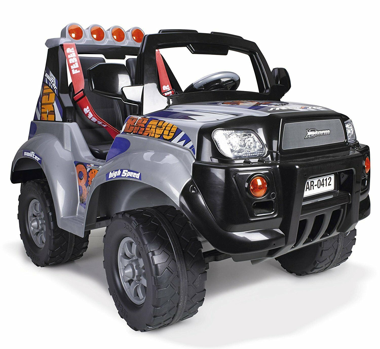Auto Elettrica Jeep 12v X-Storm 2 posti bambini Famosa cinture Bravo High Speed