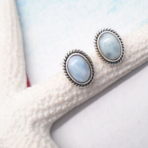 Larimar-blau-hellblau-oval-Design-Ohrringe-Ohrstecker-925-Sterling-Silber-neu
