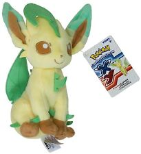 "Pokemon Eevee LEAFEON Eeveelution OFFICIAL TOMY Licensed 9"" Plush w/Tags"