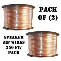 Pack Of 2) Pyle Psc14250 14 Gauge High Quality Speaker Zip Wire, Len 250 Ft Each on Sale