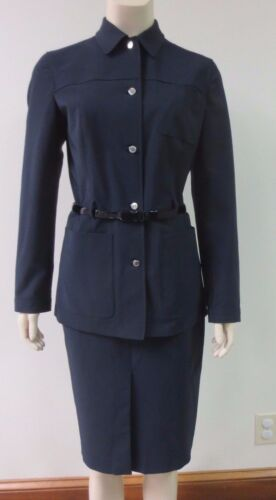 Blazer Sz Blue Belt Veste Midnight 44 Prada Navy Mint Ceinture Condition Triple pgwAUWq