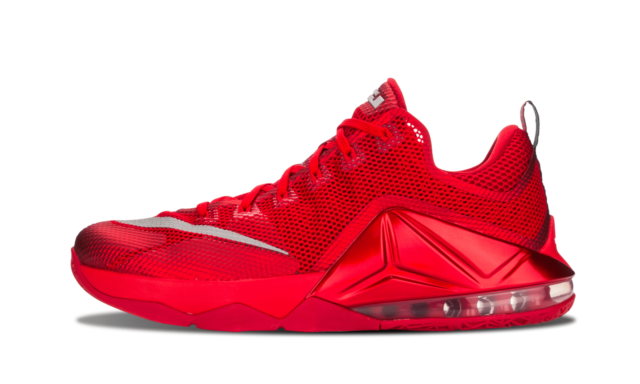 outlet store 511ce 38c5f Nike Air LeBron 12 Low UNIVERSITY RED ALL OVER OCTOBER 724557-616 sz 12  James