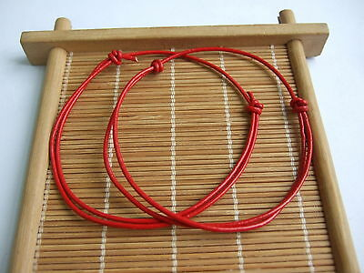10 x Red Leather Cord Lucky Bracelet Anklet Adjustable For Men Women Surf