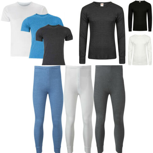 Mens Thermal Vest Long John Trousers Warm Underwear Brushed Baselayer Bottom Top
