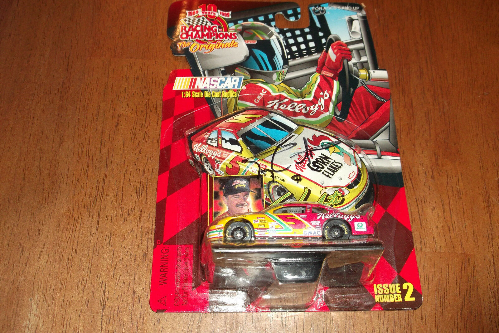 TERRY LaBONTE KELLOGG'S AUTOGRAPHED 1 64 SCALE RACING CHAMPIONS (58)
