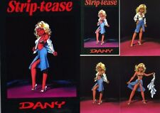 RARE MINI PORT-FOLIO ÉROTIQUE + DANY + 9 DESSINS : STRIP-TEASE