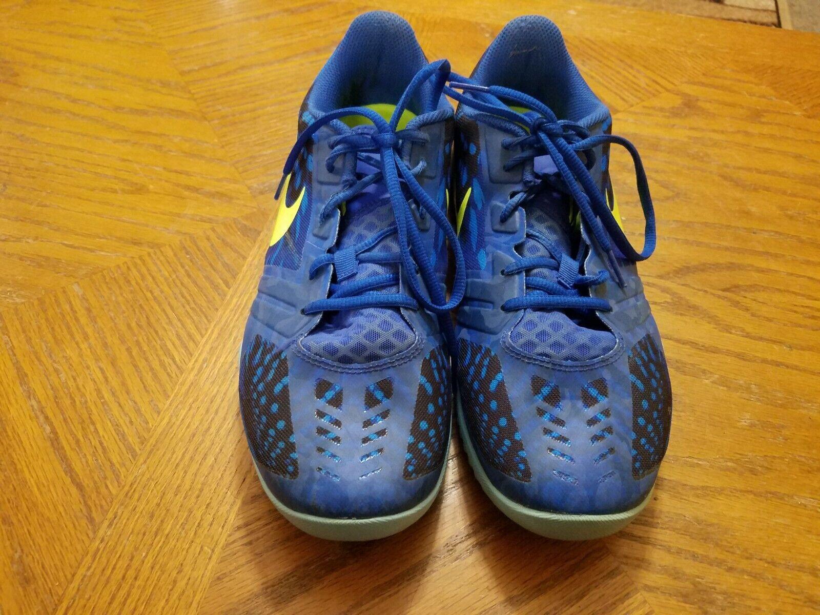 Nike KB Mentality Men's Sneakers 704942-401 Royal bluee Volt Size 10.5 EUC