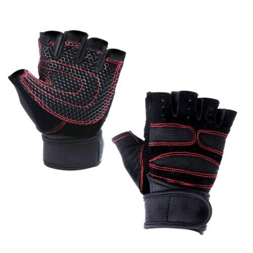 Mens Half Finger Gloves Running Bicycle Shockproof Protect Workout Sports Size L