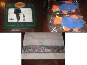 *GREAT OUTDOORS* FISHING HAND TOWEL LOT of 10 + PHOTO FRAME + NAPKIN HOLDERS