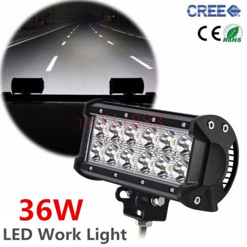 CREE 36W LED Work Light Bar Spot light For Yamaha Suzuki Honda Arctic Cat ATV