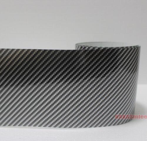 Wide-Used 2D 3D 4D 5D Glossy Real Carbon Fiber Vinyl Tape Wrap Sticker Black HD