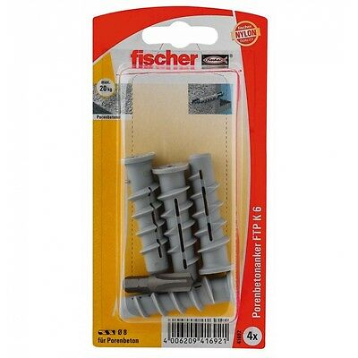 fischer Turbo Porenbetondübel FTP K 6 K SB-Karte
