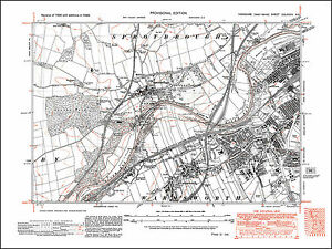 Doncaster W, Sprotborough, Warmsworth, Balby, old map Yorkshire 1938 ...