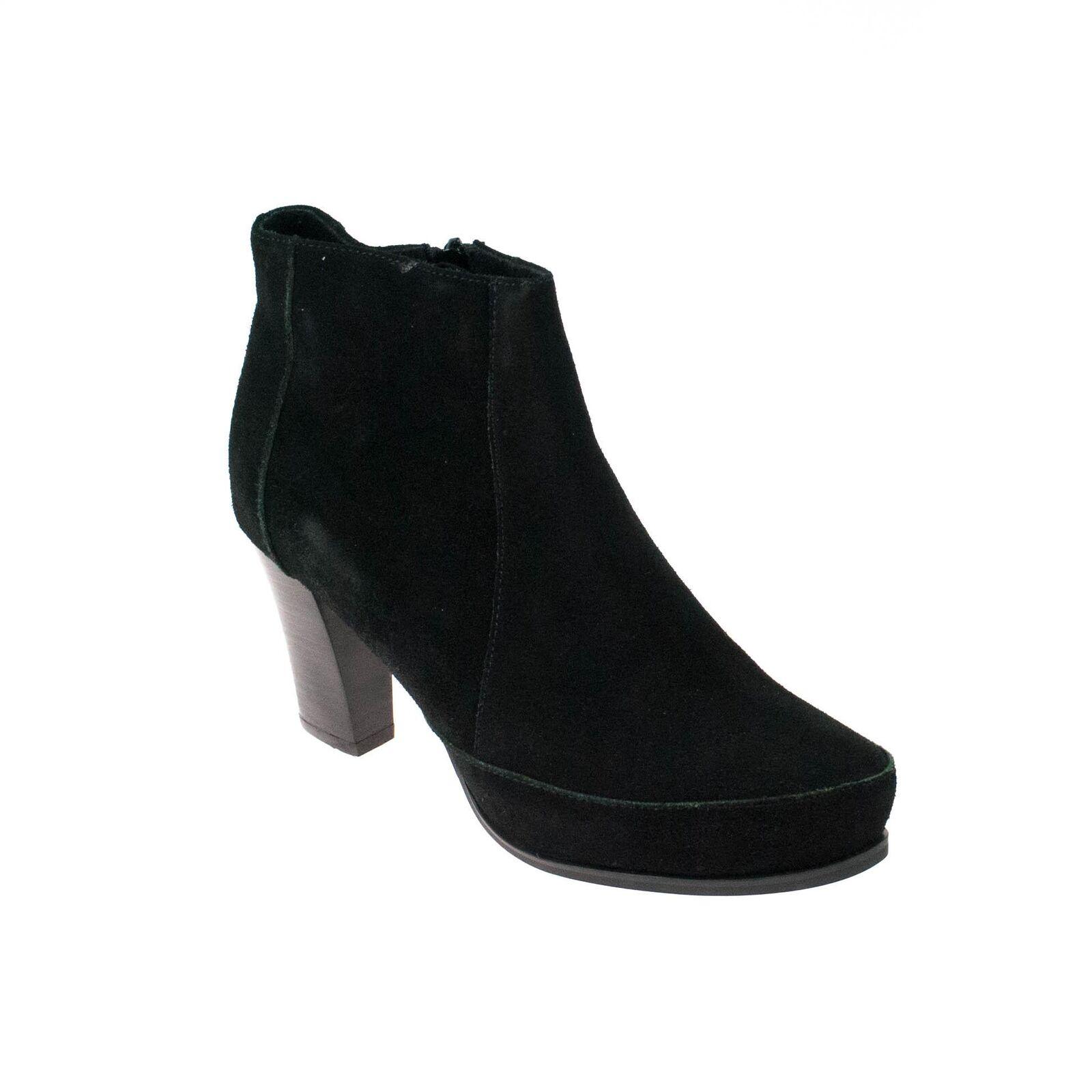 Zapatos especiales con descuento Jina Di Lauro Damen Stiefelette Wildleder Schwarz