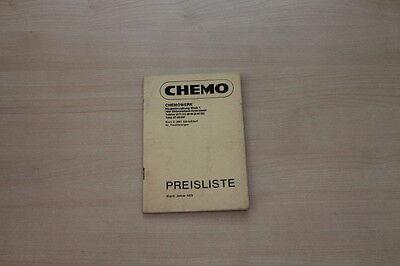 162993) Chemo - Preise & Extras - Prospekt 01/1973