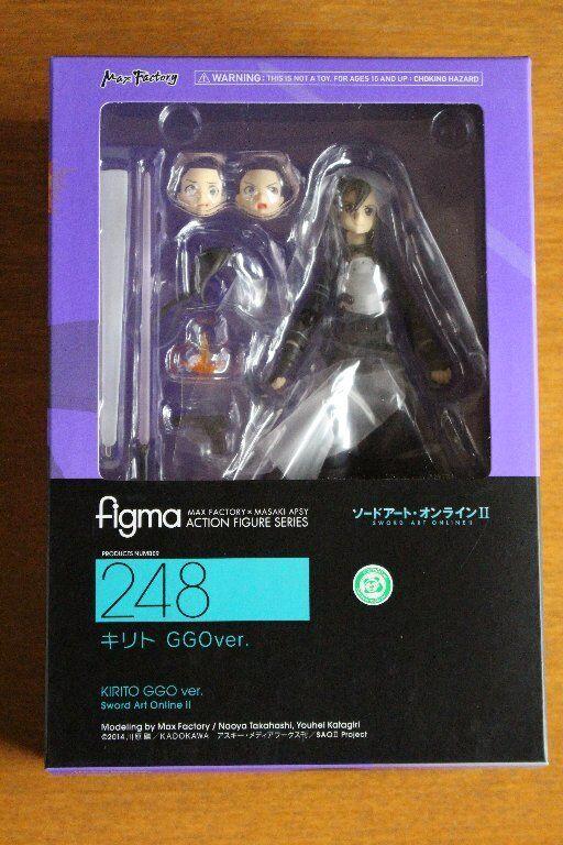 Max Factory Figma No.248 Kirito GGO Ver. Sword Art Online II Action Figure Japan