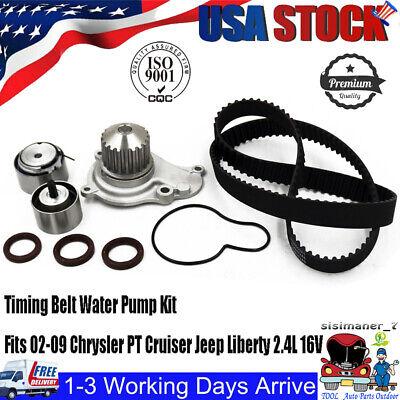 02-09 FITS CHRYSLER PT CRUISER DODGE JEEP 2.4 DOHC TIMING BELT KIT WATER PUMP