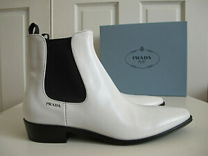 NIB $900 Prada Logo Chelsea Boots