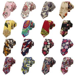 Men-Colorful-Floral-Paisley-Printed-Necktie-Wedding-Party-Cotton-Men-039-s-Tie