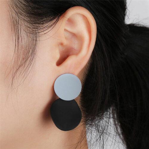 Bohemia Vintage Double Large Circle Ear Stud Drop Dangle Hook Earrings Geometric