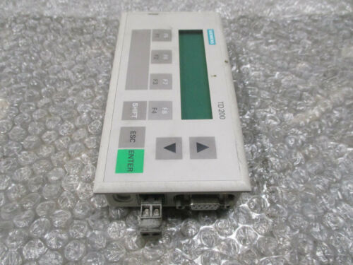 Siemens 6ES7272-0AA20-0YA0 Simatic S7 TD200 Display Panel Module 24VDC *Tested*