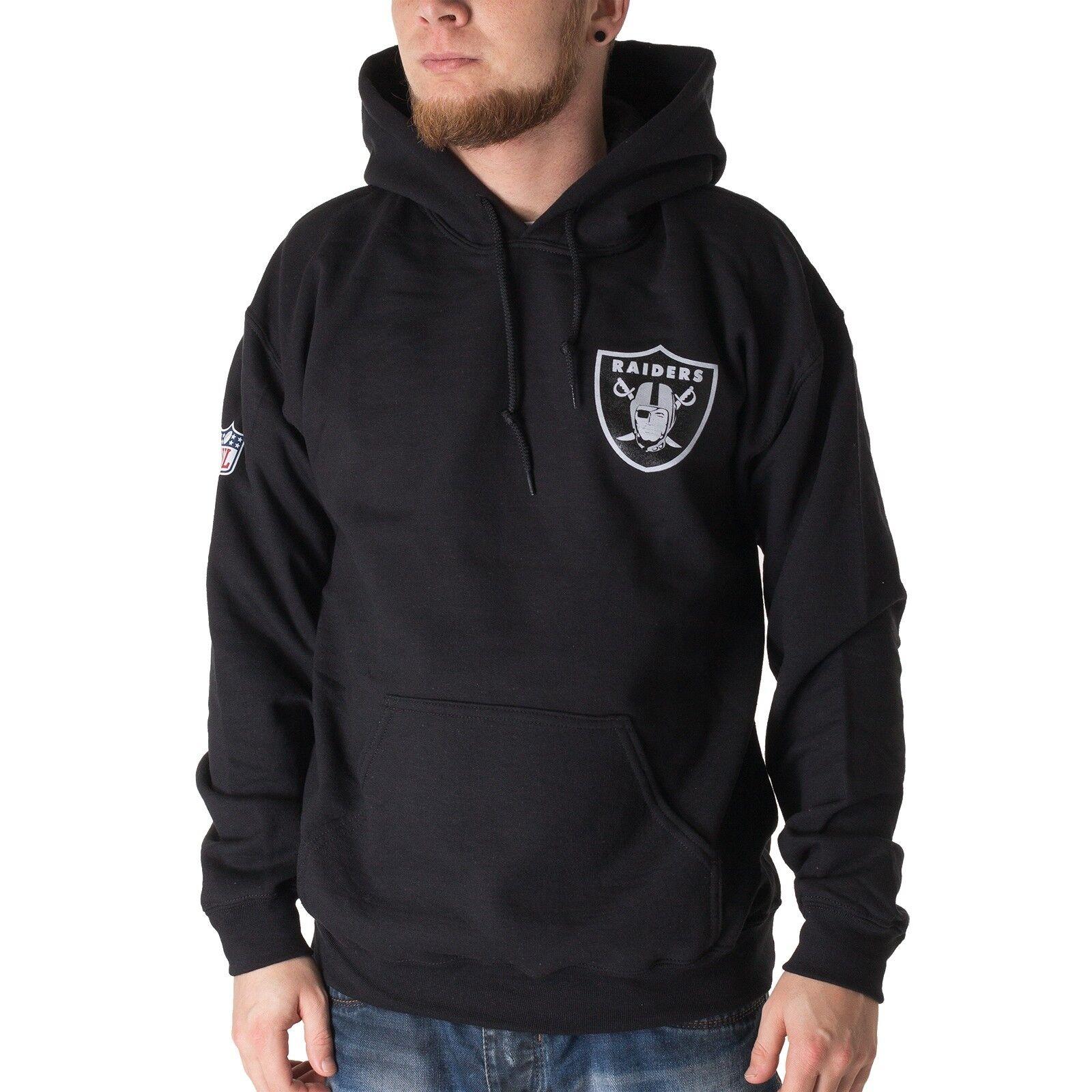 Majestic NFL Oakland Raiders Hoodie Herren Kapuzenpullover schwarz 33848