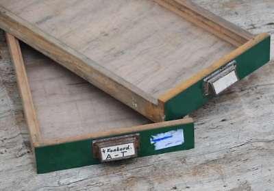 2 X Original Schublade Steckschriftkasten Druckerei Holzschublade Holz Druckerei Hohe Sicherheit