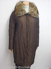 Annette Görtz ligeramente wattierter abrigo talla 44 coat guardián Braun 2790
