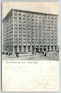 Chattanooga-Tennessee-Patten-Hotel-Artist-Conception-1907-B-amp-W-Postcard