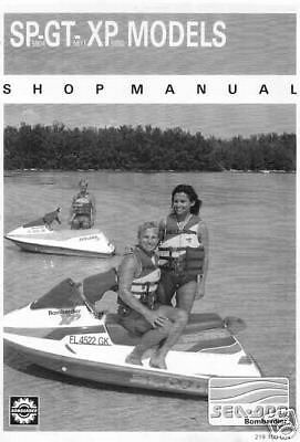 1991 SeaDoo SP GT XP BOMBARDIER Watercraft Shop Service Repair Manual 91 On CD
