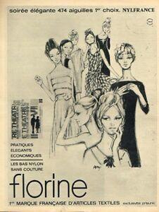 L-Publicite-Advertising-1963-Les-Bas-et-collants-Florine