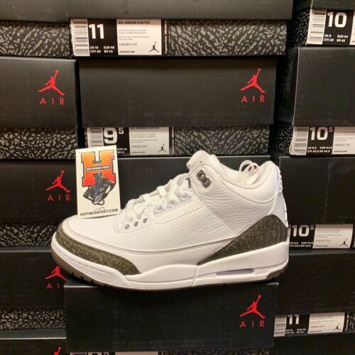 8-14 2018 Nike Air Jordan Retro 3 III NEW DS 2018 Mocha White 136064-122 Size