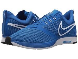 Men's Nike Zoom Strike Running Shoes AJ0189 401 Sizes 8.5-13 Hyper Cobalt/White