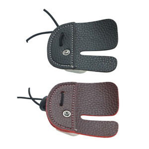 2pc Archery Protective Gear Finger Guard with 3 Finger Glove Tab Right Hand