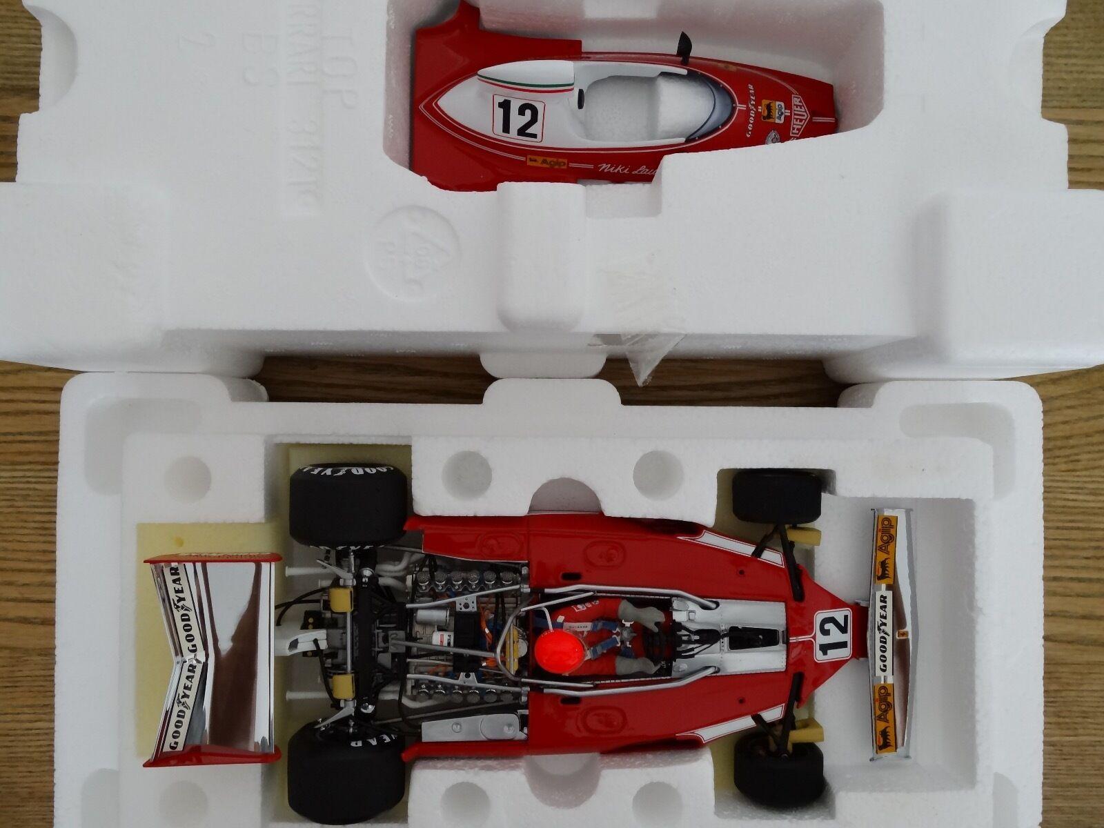 F1 Ferrari 312 T1 GP USA 1975, Niki LAUDA vainqueur, EXOTO 1 18