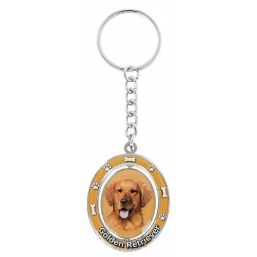High Gloss Quality Enamel Dog Key Rings with Spinning Centre