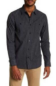 coastal-shirt-mens-gray-striped-Button-Front-Collar-large-1001