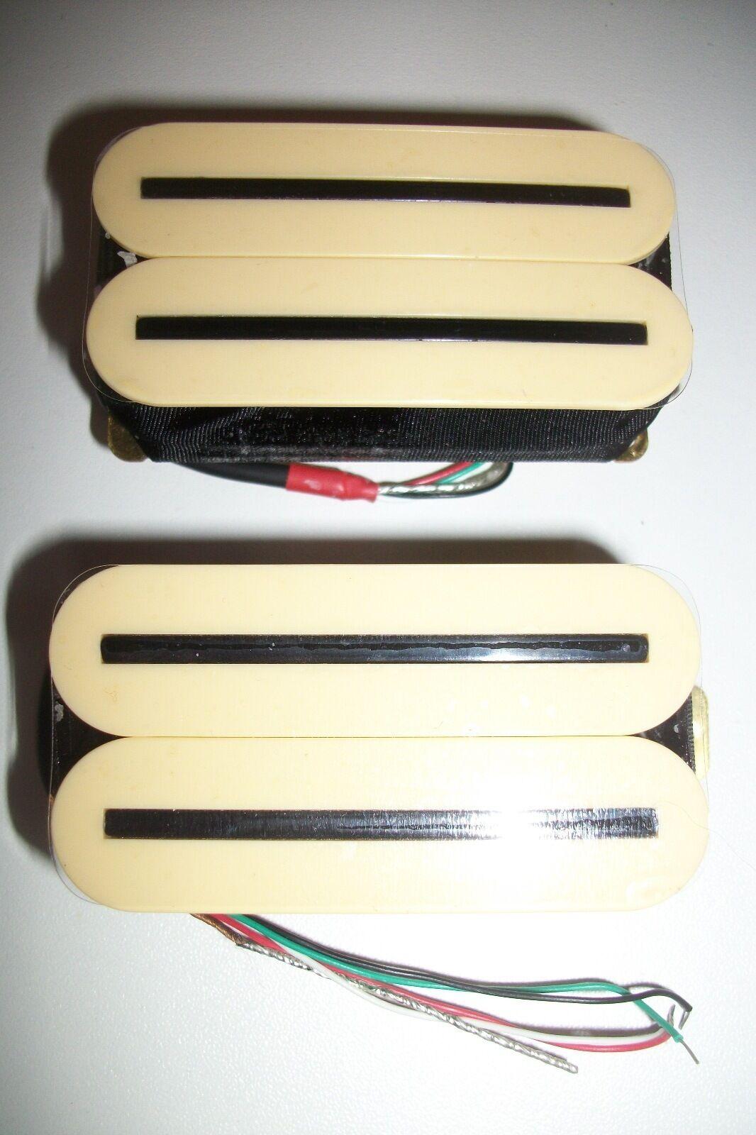 NEW set ARTEC HOT RAILS - HXTN - humbuckers cream color - rails nickel black