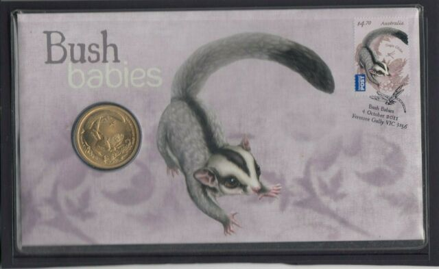 AUSTRALIA 2011 BUSH BABIES - SUGAR GLIDER PNC - FDC with Special Coin @ PO