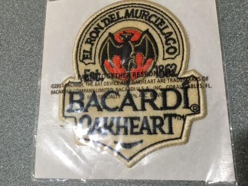 Bacardi New Oakheart Est 1862 El Ron Del Murcielago Iron On Embroidered Patch.