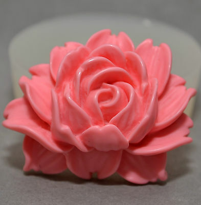 ROSE  -SILICONE FLEXIBLE PUSH MOLD POLYMER CLAY FIMO MOULD BAKEABLE