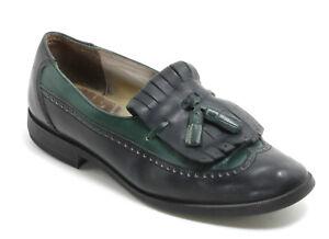 Chaussures en Cuir Boyfriend Vintage Style Mocassins Brogues Pompons Trou 39