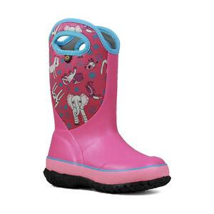 Bogs Neoprene Wellington Boots 72290 Girls Slushie Crayon