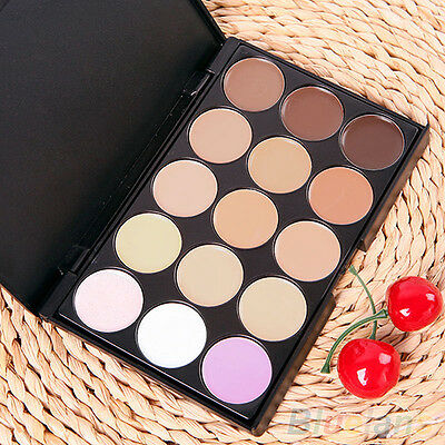 15 COLORS SIGHTLY FACIAL NEUTRAL MAKEUP CREAM CAMOUFLAGE CONCEALER PALETTE