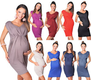 ece3b42294a New Stunning Sleeveless V Neck Maternity Dress Top Size 8 10 12 14 ...