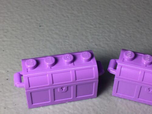 LEGO TREASURE CHEST CONTAINER NEW AUTHENTIC MINIFIGURE ACCESSORY FRIENDS X2