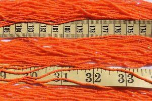 15-0-Czech-True-Cut-Orange-AB-Glass-Seed-Beads-Crafts-Jewelry-Making-hank